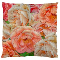 Great Garden Roses, Orange Large Cushion Cases (two Sides)