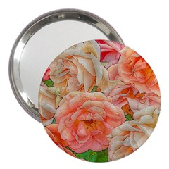 Great Garden Roses, Orange 3  Handbag Mirrors