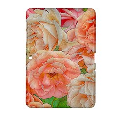 Great Garden Roses, Orange Samsung Galaxy Tab 2 (10 1 ) P5100 Hardshell Case
