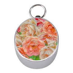 Great Garden Roses, Orange Mini Silver Compasses