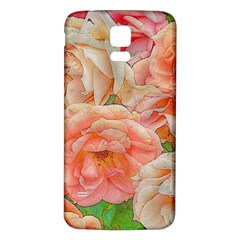 Great Garden Roses, Orange Samsung Galaxy S5 Back Case (white)