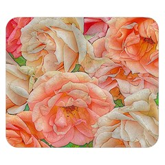 Great Garden Roses, Orange Double Sided Flano Blanket (Small)