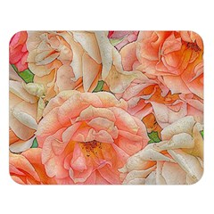 Great Garden Roses, Orange Double Sided Flano Blanket (large)