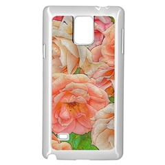Great Garden Roses, Orange Samsung Galaxy Note 4 Case (white)
