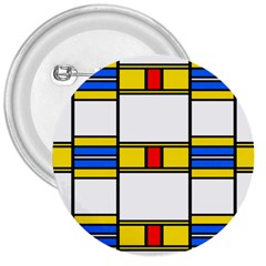 Colorful Squares And Rectangles Pattern 3  Button