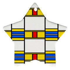 Colorful Squares And Rectangles Pattern Ornament (star)