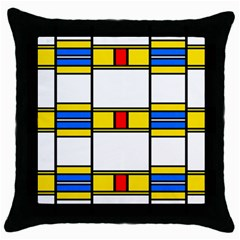 Colorful Squares And Rectangles Pattern Throw Pillow Case (black)