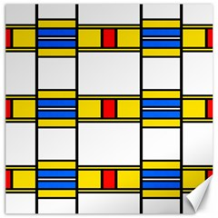 Colorful Squares And Rectangles Pattern Canvas 16  X 16