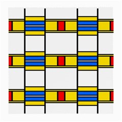Colorful Squares And Rectangles Pattern Medium Glasses Cloth