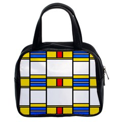 Colorful Squares And Rectangles Pattern Classic Handbag (two Sides)