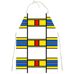 Colorful Squares And Rectangles Pattern Full Print Apron
