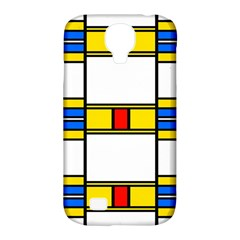 Colorful Squares And Rectangles Pattern Samsung Galaxy S4 Classic Hardshell Case (pc+silicone)