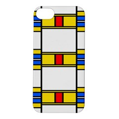 Colorful Squares And Rectangles Pattern Apple Iphone 5s Hardshell Case