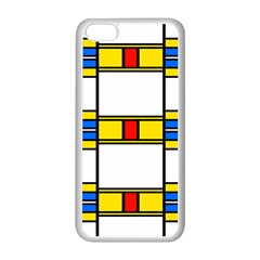 Colorful Squares And Rectangles Pattern Apple Iphone 5c Seamless Case (white)