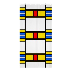 Colorful squares and rectangles patternShower Curtain 36  x 72