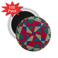 Shapes In Squares Pattern 2 25  Magnet (100 Pack)