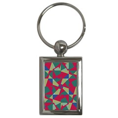 Shapes In Squares Pattern Key Chain (rectangle)