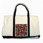 Shapes in squares pattern Two Tone Tote Bag Front