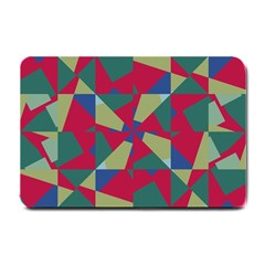 Shapes In Squares Pattern Small Doormat