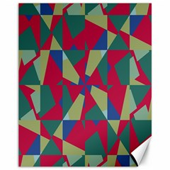 Shapes In Squares Pattern Canvas 11  X 14