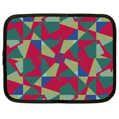 Shapes In Squares Pattern Netbook Case (xl)