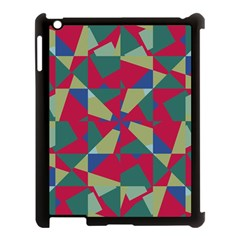 Shapes In Squares Pattern Apple Ipad 3/4 Case (black)