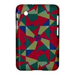 Shapes In Squares Pattern Samsung Galaxy Tab 2 (7 ) P3100 Hardshell Case