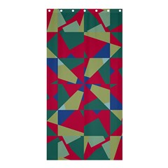 Shapes in squares patternShower Curtain 36  x 72