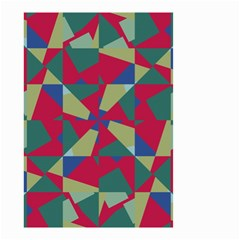 Shapes In Squares Pattern Small Garden Flag