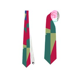 Shapes in squares pattern Necktie