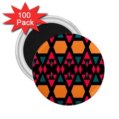 Rhombus And Other Shapes Pattern 2 25  Magnet (100 Pack)