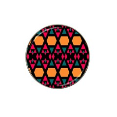 Rhombus And Other Shapes Pattern Hat Clip Ball Marker (4 Pack)