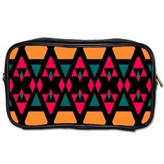 Rhombus And Other Shapes Pattern Toiletries Bag (two Sides)