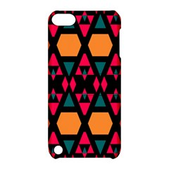 Rhombus And Other Shapes Pattern Apple Ipod Touch 5 Hardshell Case With Stand