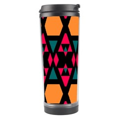 Rhombus And Other Shapes Pattern Travel Tumbler