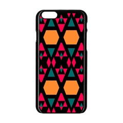 Rhombus And Other Shapes Pattern Apple Iphone 6 Black Enamel Case