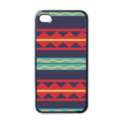 Rhombus And Waves Chains Pattern Apple Iphone 4 Case (black)