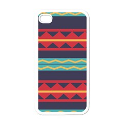 Rhombus And Waves Chains Pattern Apple Iphone 4 Case (white)