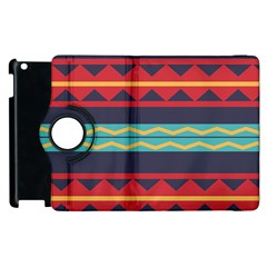 Rhombus And Waves Chains Pattern Apple Ipad 3/4 Flip 360 Case