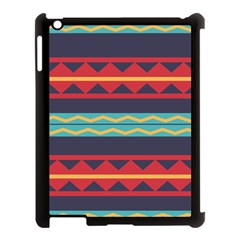 Rhombus And Waves Chains Pattern Apple Ipad 3/4 Case (black)