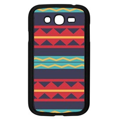 Rhombus And Waves Chains Pattern Samsung Galaxy Grand Duos I9082 Case (black)