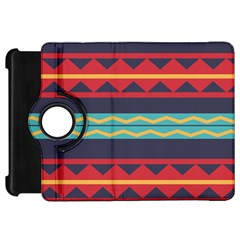 Rhombus And Waves Chains Pattern	kindle Fire Hd Flip 360 Case