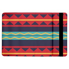Rhombus And Waves Chains Pattern	apple Ipad Air Flip Case