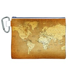 World Map Canvas Cosmetic Bag (XL)