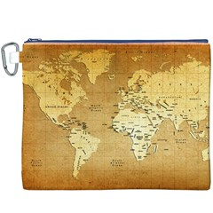 World Map Canvas Cosmetic Bag (XXXL)