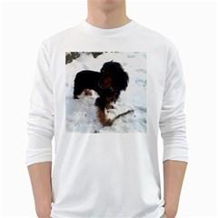 Black Tri English Cocker Spaniel In Snow White Long Sleeve T-Shirts