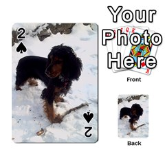 Black Tri English Cocker Spaniel In Snow Playing Cards 54 Designs