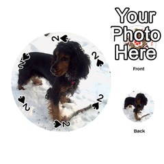 Black Tri English Cocker Spaniel In Snow Playing Cards 54 (Round)