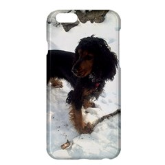 Black Tri English Cocker Spaniel In Snow Apple iPhone 6/6S Plus Hardshell Case