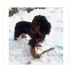 Black Tri English Cocker Spaniel In Snow Double Sided Flano Blanket (Small)